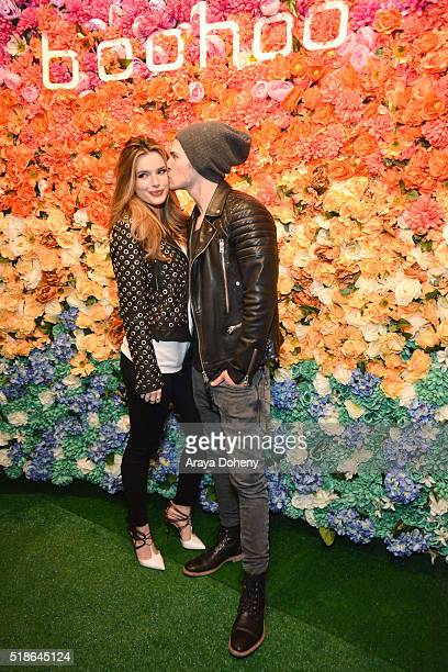 Bella Thorne and Gregg Sulkin attend the boohoocom Flagship LA Pop Up Store with opening party fueled by CIROC UltraPremium Vodka on April 1 2016 in...