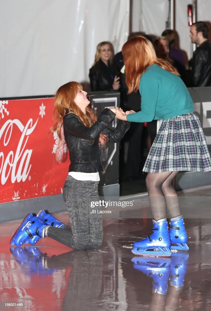 <a gi-track='captionPersonalityLinkClicked' href=/galleries/search?phrase=Bella+Thorne&family=editorial&specificpeople=5083663 ng-click='$event.stopPropagation()'>Bella Thorne</a> and her sister attend the Disney On Ice 'Dare To Dream' Red Carpet Opening Night at LA Kings Holiday Ice at L.A. LIVE on December 12, 2012 in Los Angeles, California.