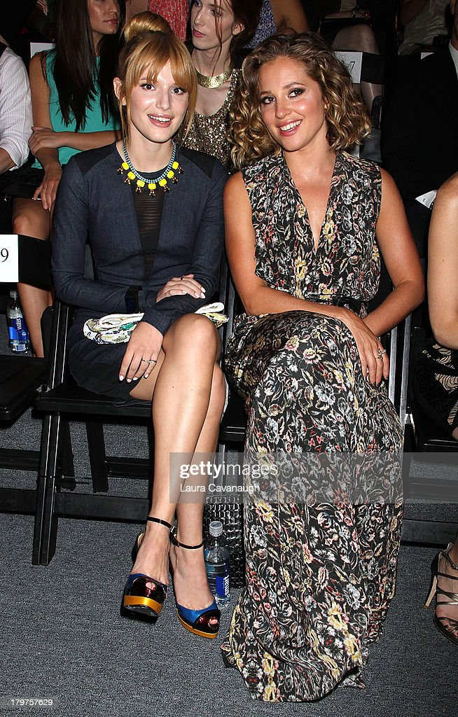 Bella Thorne and Margarita Levieva attend the Nicole Miller Spring 2014 fashion show at The Studio at Lincoln Center on September 6, 2013 in New York City.