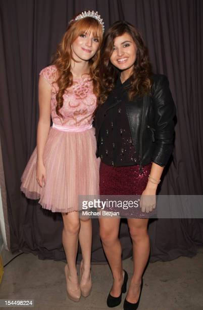 Bella Thorne and Rebecca Black attend Hallmark Gold Crown And Text Bands Celebrates Bella Thorne's Quinceanera in honor of her 15th Birthday on...