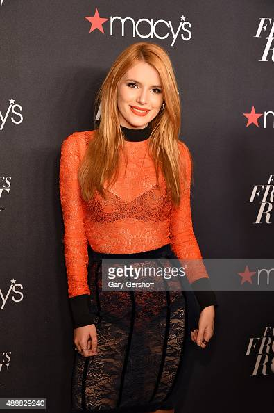 Bella Thorne appears at Macy's Presents Fashion's Front Row Arrivals at The Theater at Madison Square Garden on September 17 2015 in New York City