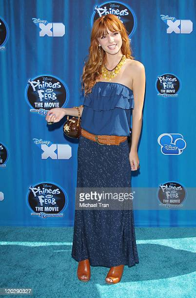 Bella Thorne arrives at Disney Channel's 'Phineas Ferb Across The 2nd Dimension' Los Angeles premiere held at the El Capitan Theatre on August 3 2011...