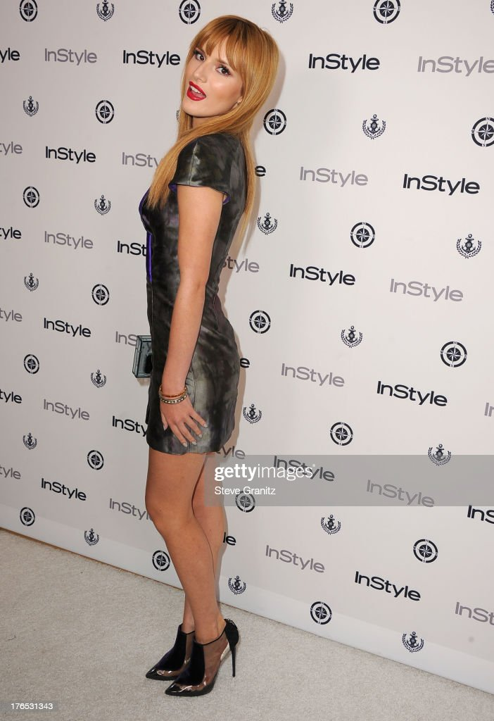 <a gi-track='captionPersonalityLinkClicked' href=/galleries/search?phrase=Bella+Thorne&family=editorial&specificpeople=5083663 ng-click='$event.stopPropagation()'>Bella Thorne</a> arrives at the 12th Annual InStyle Summer Soiree at Mondrian Los Angeles on August 14, 2013 in West Hollywood, California.