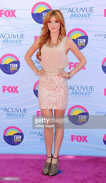Bella Thorne arrives at the 2012 Teen Choice Awards at Gibson Amphitheatre on July 22 2012 in Universal City California
