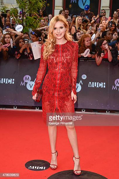 Bella Thorne arrives at the 2015 MuchMusic Video Awards at MuchMusic HQ on June 21 2015 in Toronto Canada