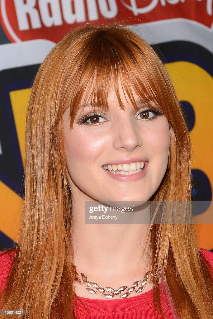 <a gi-track='captionPersonalityLinkClicked' href=/galleries/search?phrase=Bella+Thorne&family=editorial&specificpeople=5083663 ng-click='$event.stopPropagation()'>Bella Thorne</a> arrives at the Radio Disney's 'N.B.T.' (Next BIG Thing) Season 5 winner and finale event at The Americana at Brand on December 8, 2012 in Glendale, California.