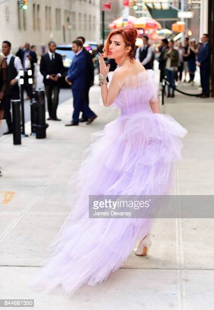Bella Thorne arrives to the Daily Front Row's Fashion Media Awards at Four Seasons Hotel New York Downtown on September 8 2017 in New York City