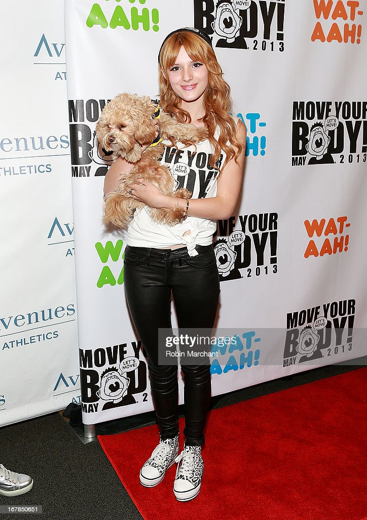 <a gi-track='captionPersonalityLinkClicked' href=/galleries/search?phrase=Bella+Thorne&family=editorial&specificpeople=5083663 ng-click='$event.stopPropagation()'>Bella Thorne</a> attends Move Your Body 2013 at Avenues World School on May 1, 2013 in New York City.