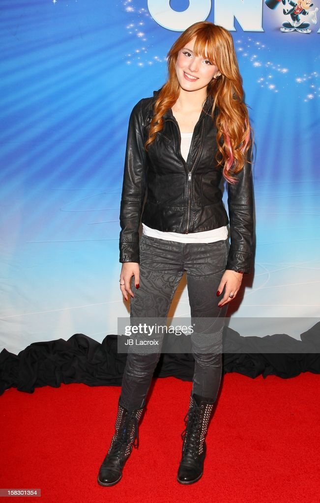 <a gi-track='captionPersonalityLinkClicked' href=/galleries/search?phrase=Bella+Thorne&family=editorial&specificpeople=5083663 ng-click='$event.stopPropagation()'>Bella Thorne</a> attends the Disney On Ice 'Dare To Dream' Red Carpet Opening Night at LA Kings Holiday Ice at L.A. LIVE on December 12, 2012 in Los Angeles, California.