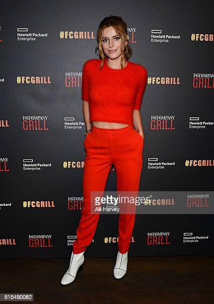 Bella Thorne attends the Fast Company Grill with Bella Thorne Kian Lawley KeeganMichael Key Gillian Jacobs on March 13 2016 in Austin Texas