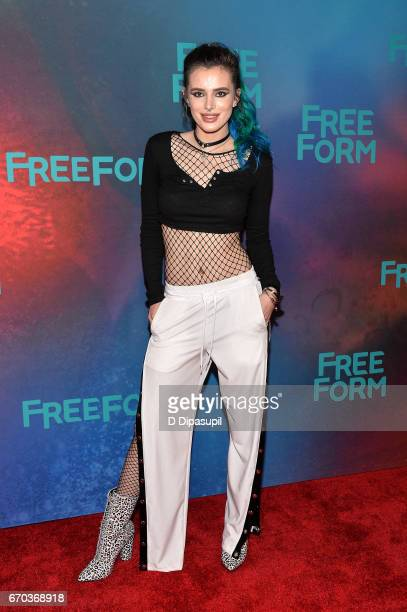 Bella Thorne attends the Freeform 2017 Upfront at Hudson Mercantile on April 19 2017 in New York City