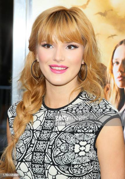 Bella Thorne attends 'The Mortal Instruments City Of Bones' Los Angeles premiere held at ArcLight Cinemas Cinerama Dome on August 12 2013 in...