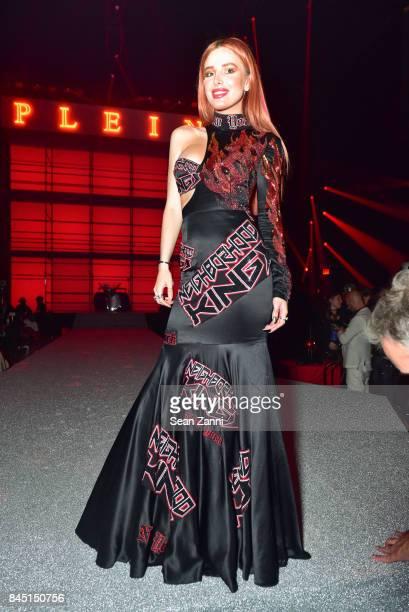 Bella Thorne attends the Philipp Plein fashion show during New York Fashion Week The Shows at Hammerstein Ballroom on September 9 2017 in New York...