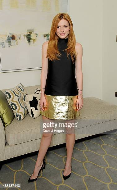 Bella Thorne attends the photocall for 'The Duff' at Corinthia Hotel London on March 30 2015 in London England