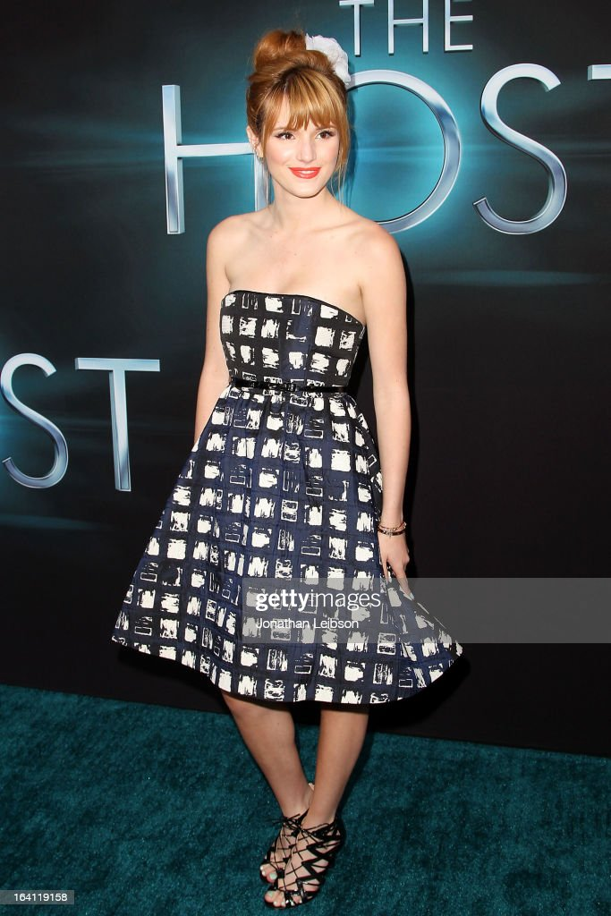 <a gi-track='captionPersonalityLinkClicked' href=/galleries/search?phrase=Bella+Thorne&family=editorial&specificpeople=5083663 ng-click='$event.stopPropagation()'>Bella Thorne</a> attends the 'The Host' - Los Angeles Premiere at ArcLight Cinemas Cinerama Dome on March 19, 2013 in Hollywood, California.