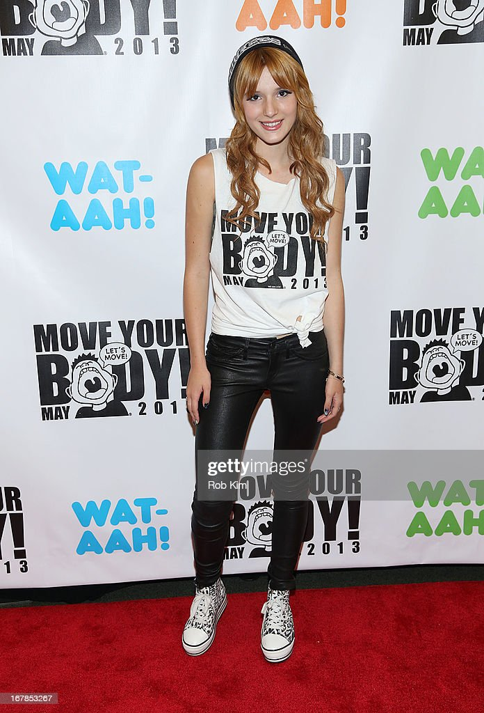 Bella Thorne attends WAT-AAH! Foundation Move Your Body 2013 Flash Workout at The Avenues World School on May 1, 2013 in New York City.