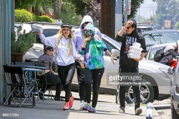Bella Thorne her sister Dani Thorne and Dylan Jetson are seen on June 06 2017 in Los Angeles California
