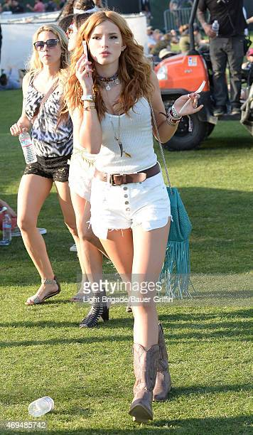 Bella Thorne is seen at Coachella Valley Music and Arts Festival at The Empire Polo Club on April 11 2015 in Indio California