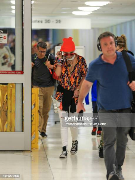 Bella Thorne is seen at Los Angeles International Airport on July 11 2017 in Los Angeles California
