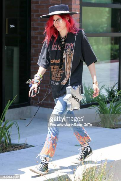 Bella Thorne is seen on July 06 2017 in Los Angeles California