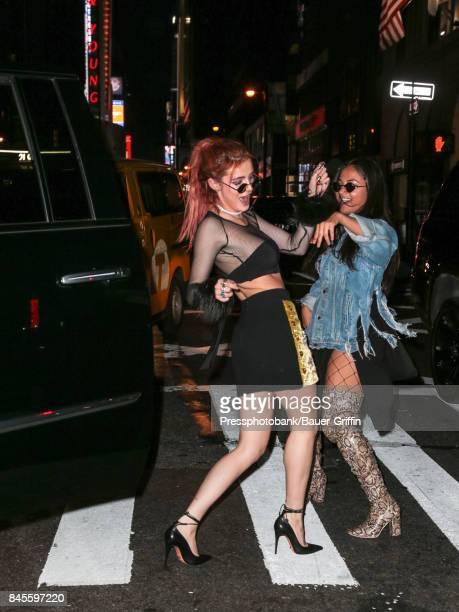 Bella Thorne is seen on September 10 2017 in New York City