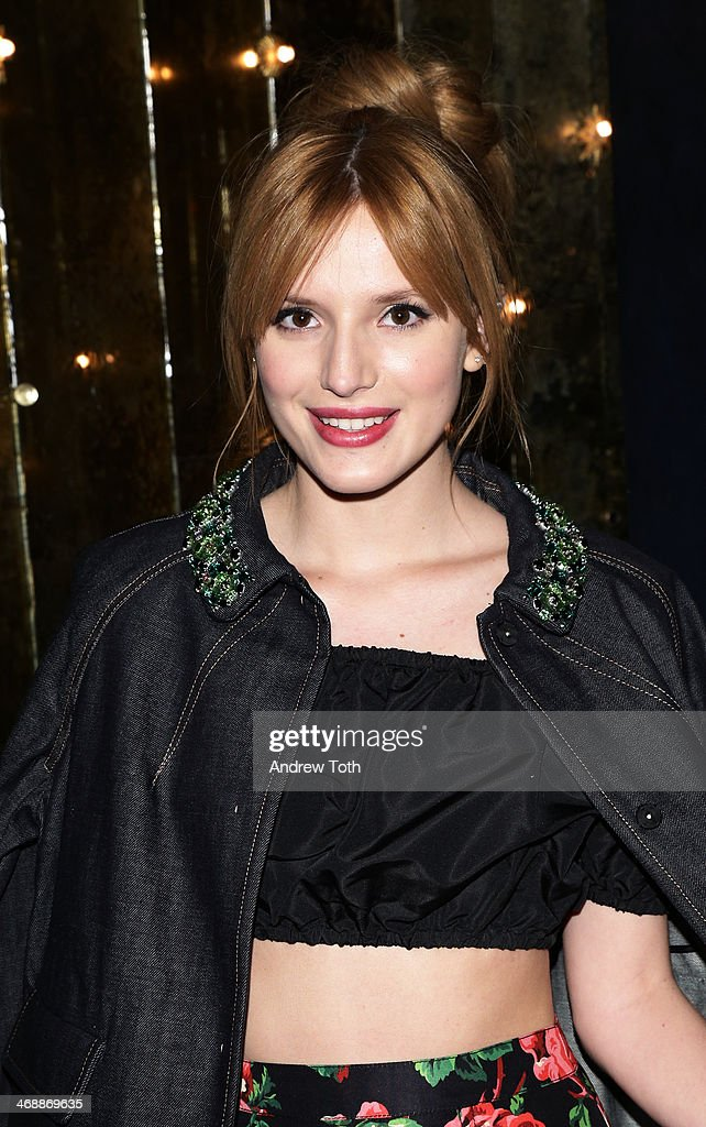 <a gi-track='captionPersonalityLinkClicked' href=/galleries/search?phrase=Bella+Thorne&family=editorial&specificpeople=5083663 ng-click='$event.stopPropagation()'>Bella Thorne</a> wearing Miu Miu at Miu Miu Women's Tales 7th Edition - 'Spark & Light' Screening - Inside at Diamond Horseshoe on February 11, 2014 in New York City.