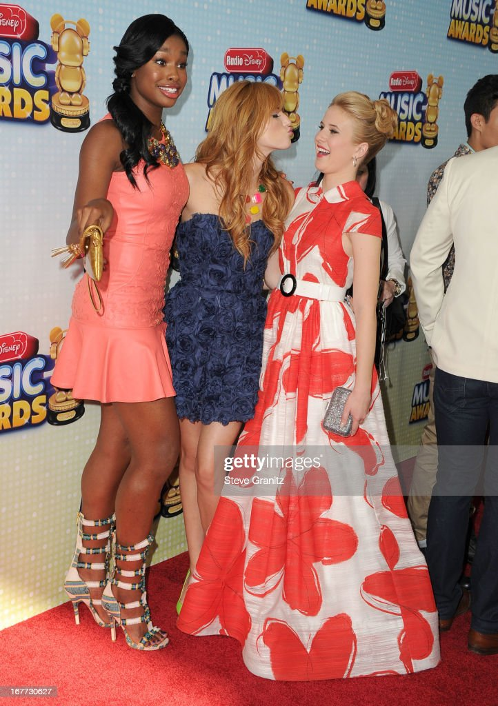 Bella Thorne,Caroline Sunshine and Coco Jone arrives at the 2013 Radio Disney Music Awards at Nokia Theatre L.A. Live on April 27, 2013 in Los Angeles, California.