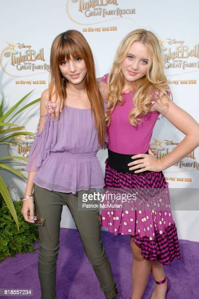 Bella Throne and Kathryn Newton attend Picnic In The Park For 'Tinker Bell And The Great Fairy Rescue' at La Cienega Park on August 28 2010 in...