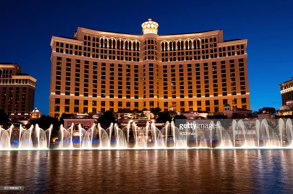 Bellagio Hotel Fountain Show : Stock Photo