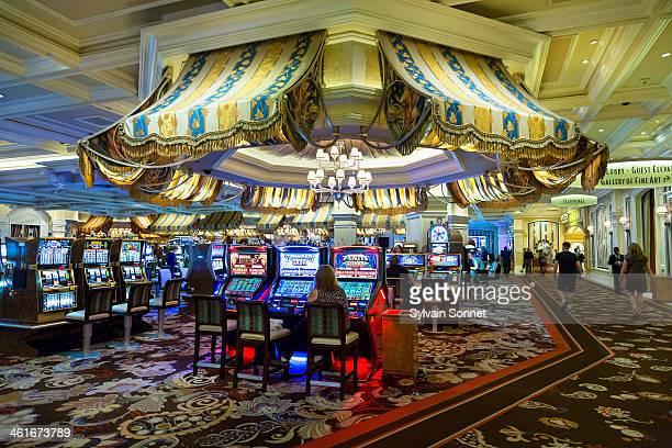 Bellagio Hotel, People playing slot machines