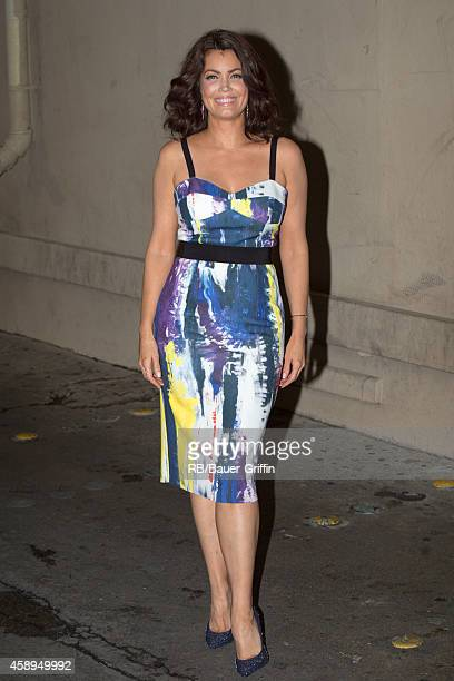 Bellamy Young is seen at 'Jimmy Kimmel Live' on November 13 2014 in Los Angeles California