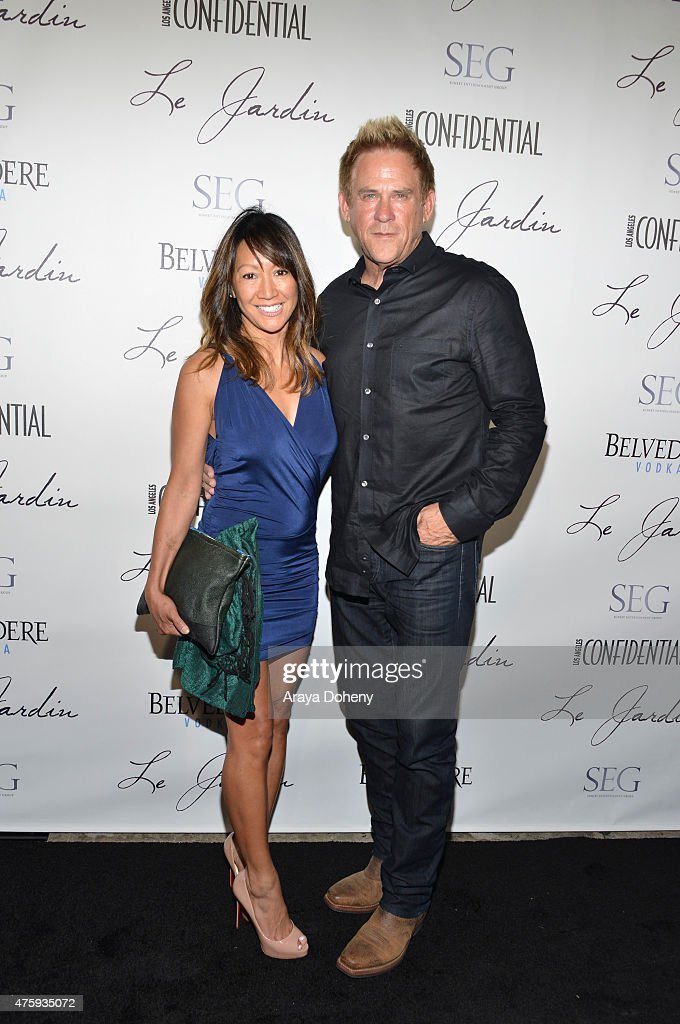 Belle Dudikoff and actor Michael Dudikoff attend the Grand Opening Of Le Jardin on June 4 2015 in Hollywood California