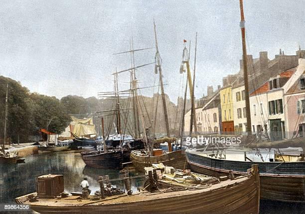 Belle Ile en Mer Brittany France postcard c 1900
