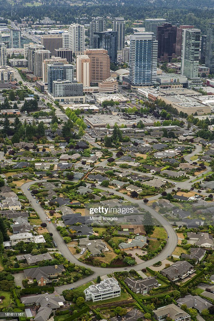 Bellevue Downtown Aerial View