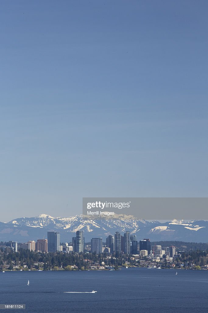 Bellevue Skyline over Lake Washington