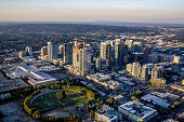 Shot on a helicopter in Bellevue, Washington during the sunset. (Summer 2016)
