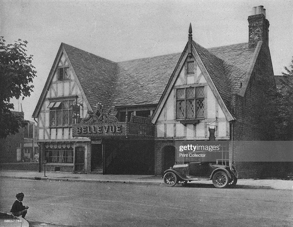 Bellevue Theatre Upper Montclair New Jersey 1925 Designed in mock Tudor style the Bellevue Theatre in Upper Montclair is a cinema opened in 1923 in a...
