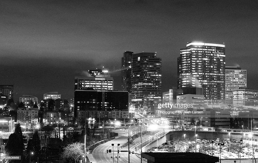 Bellevue Washington at Night