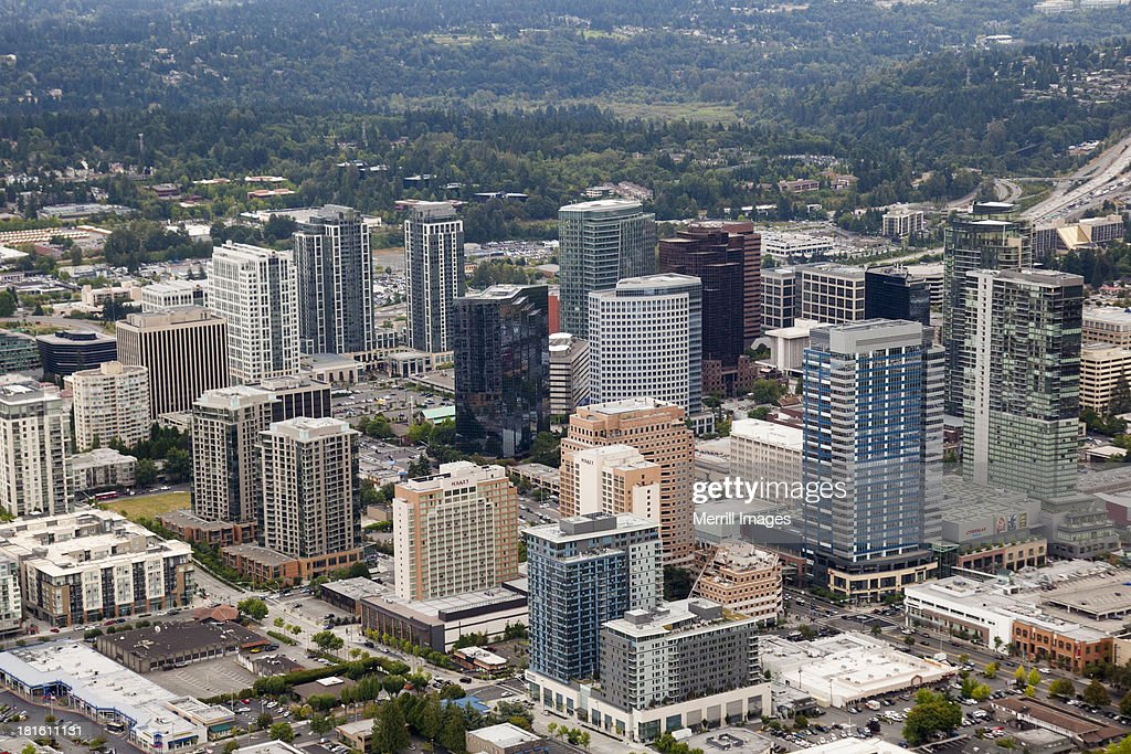 Bellevue, Washington Downtown Aerial View