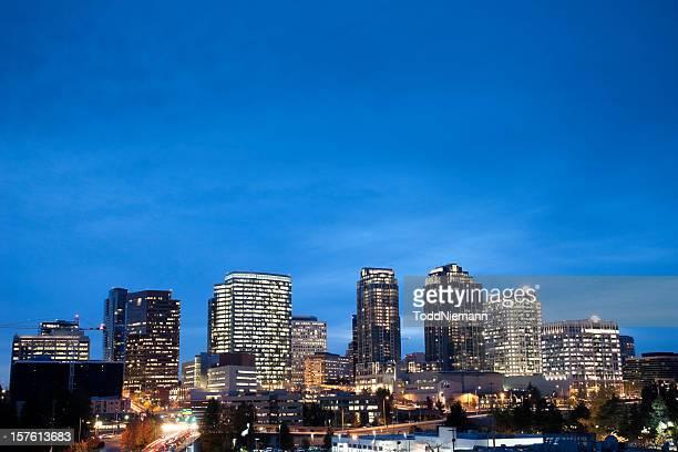 Bellevue Washington Skyline at Dusk
