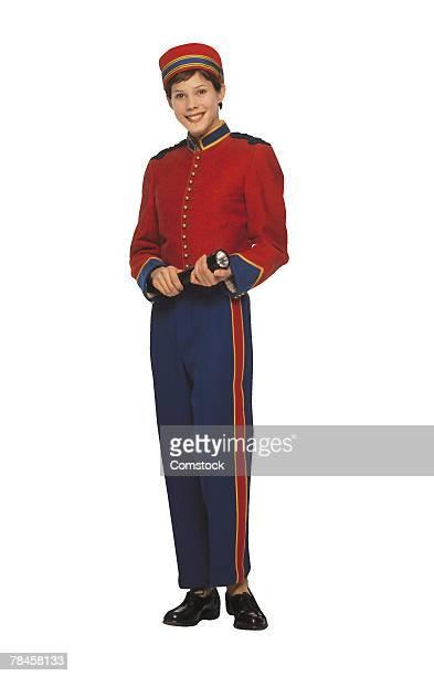 Bellhop in uniform