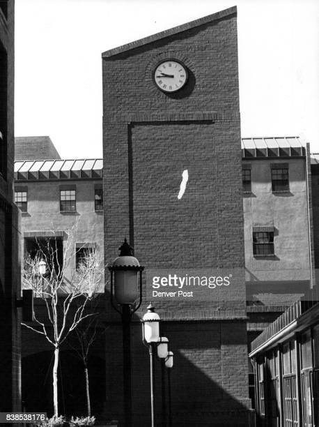Bells Are Ringing in Writer Square Chimes ringing every quarter hour in Writer Square seem to emanate from clock tower but in reality are recording...
