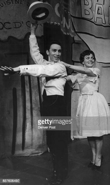 MAY 4 1965 MAY 13 1965 'Bells' at Bonfils Theater Don Case leads Marilyn Hennig in a fast chacha in the Bonfils Theater production of 'Bells Are...