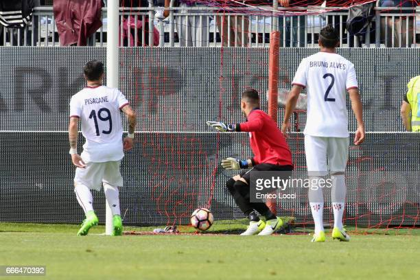 Belotti Andrea of Torino scores his goal 12 during the Serie A match between Cagliari Calcio and FC Torino at Stadio Sant'Elia on April 9 2017 in...