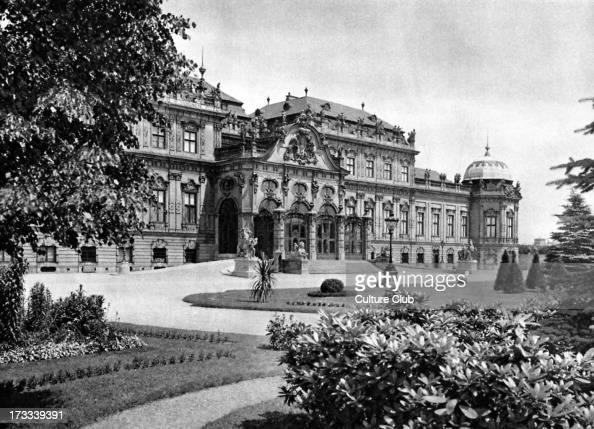 Belvedere Palace Vienna Austria 1920s south frontage 19th century gallery Designed by Johann Lukas von Hildebrandt 1668 – 1745 Austrian architect
