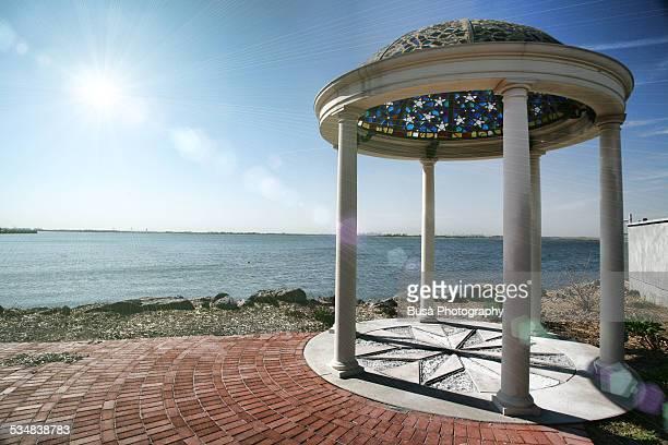Belvedere pavilion facing the ocean