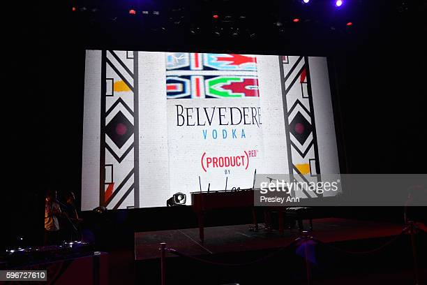 Belvedere Vodka display at the as Belvedere Presents One Night for Life with John Legend at the Apollo Theater at The Apollo Theater on August 27...