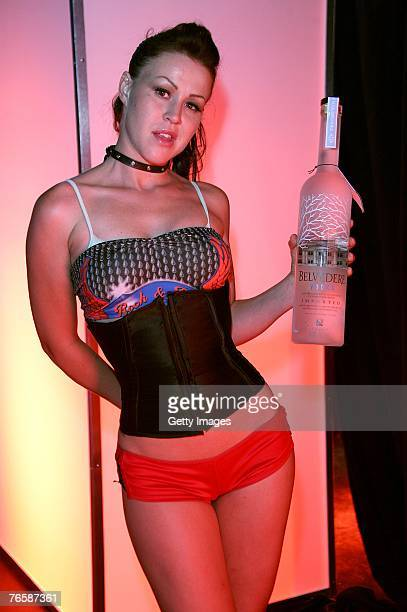 Belvedere Vodka is served during the MTV VMA Kickoff Party at Rain Nightclub inside the Palms Casino Resort on September 7 2007 in Las Vegas Nevada