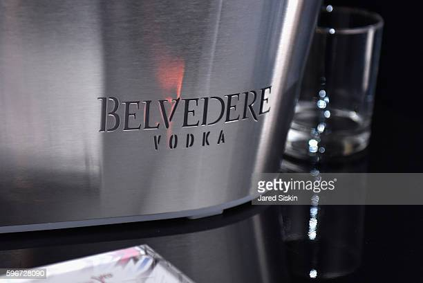 Belvedere Vodka on display at the as Belvedere Presents One Night for Life with John Legend at the Apollo Theater at The Apollo Theater on August 27...