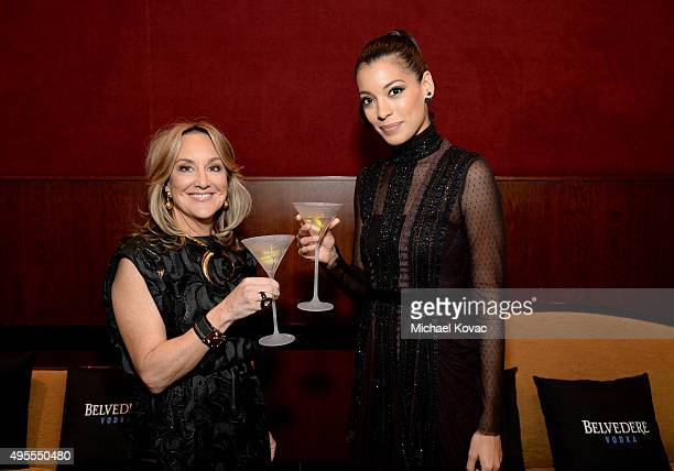 Belvedere Vodka Senior Vice President of Business Development Cathy Steen and actress Stephanie Sigman attend an exclusive screening of 'SPECTRE'...